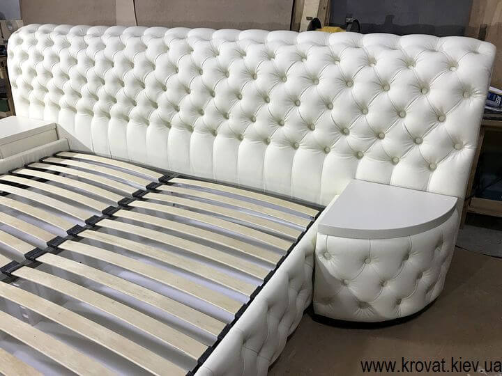кровать кинг сайз с широкой спинкой на заказ