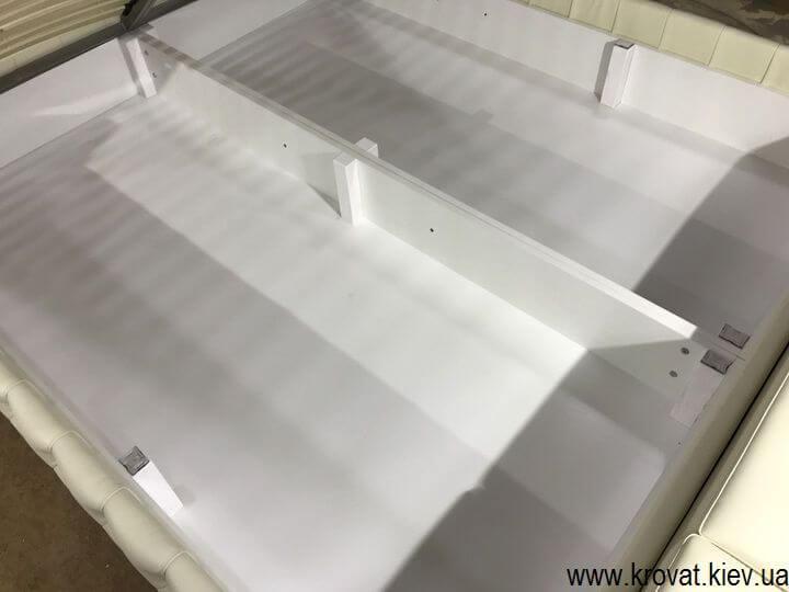 кровать кинг сайз с нишей для белья на заказ
