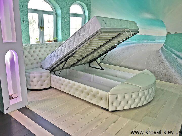 кровать кинг сайз с подъемным механизмом на заказ