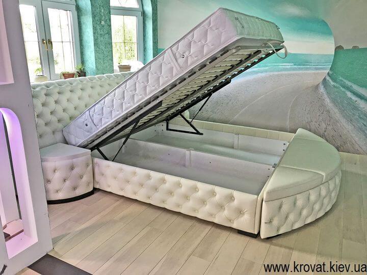 кровати кинг сайз с подъемным механизмом на заказ