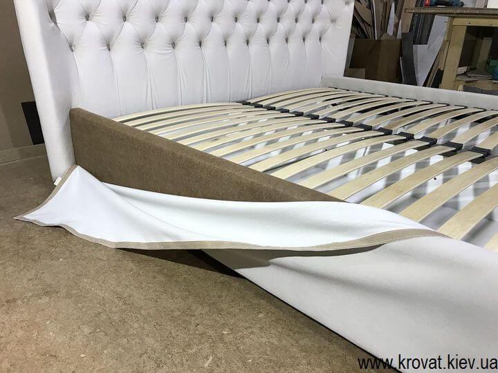 сучасне ліжко з м'яким узголів'ям на замовлення