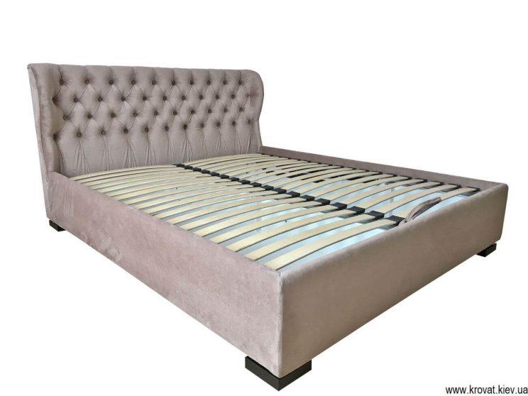 кровать с низким изголовьем