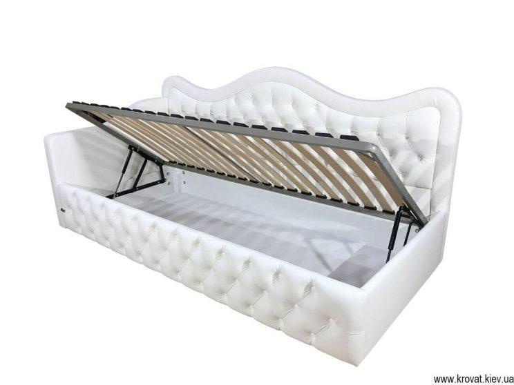 односпальная кровать с бортиком на заказ