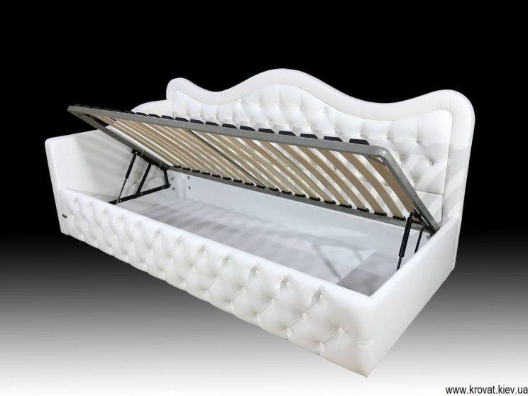 односпальная кровать с бортиком для подростка на заказ