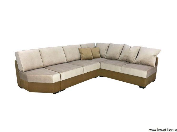 угловой диван со срезом на углу