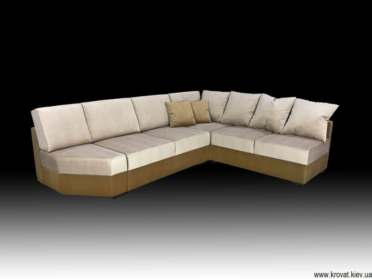 угловой диван в ткани пони флок