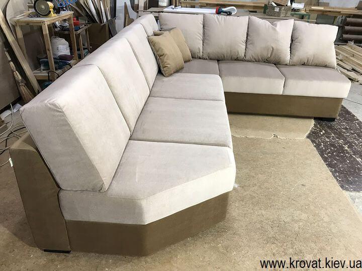 угловой диван с обрезанным углом на заказ