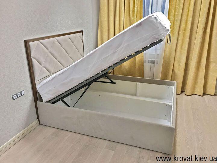 высокая кровать с подъемным механизмом на заказ
