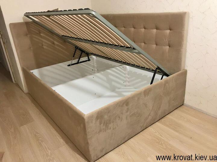 кутове ліжко з боковим підйомним механізмом на замовлення