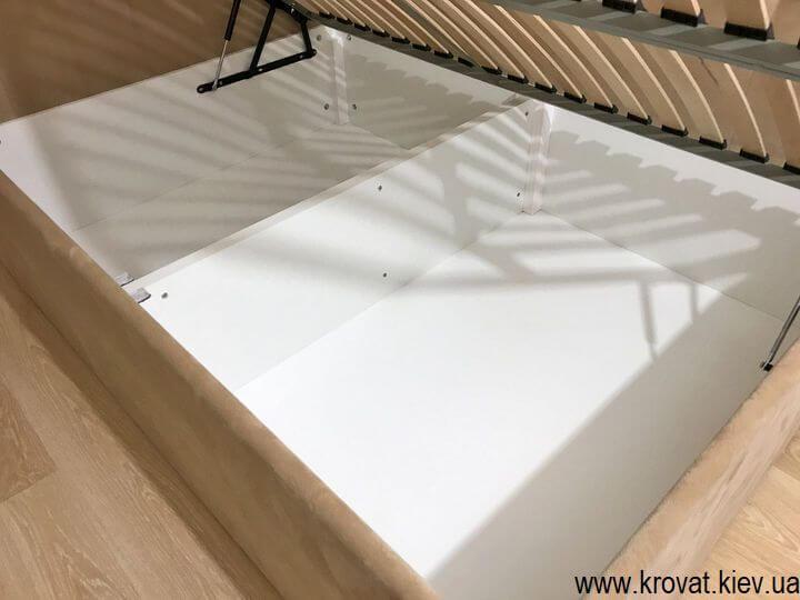 угловая кровать с большим ящиком на заказ