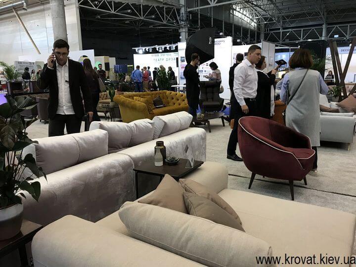 мягкая мебель на выставке мебели 2018 в Киеве