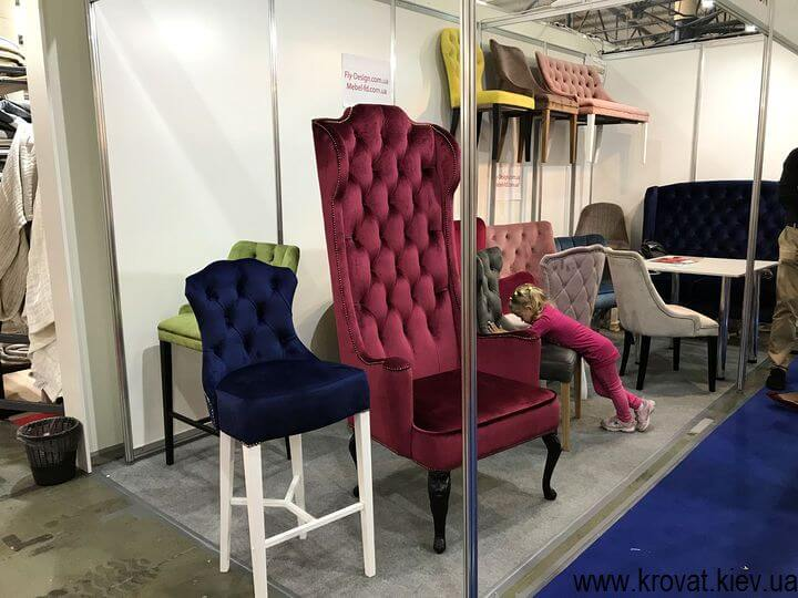 стулья для баров на выставке мебели 2018 в Киеве