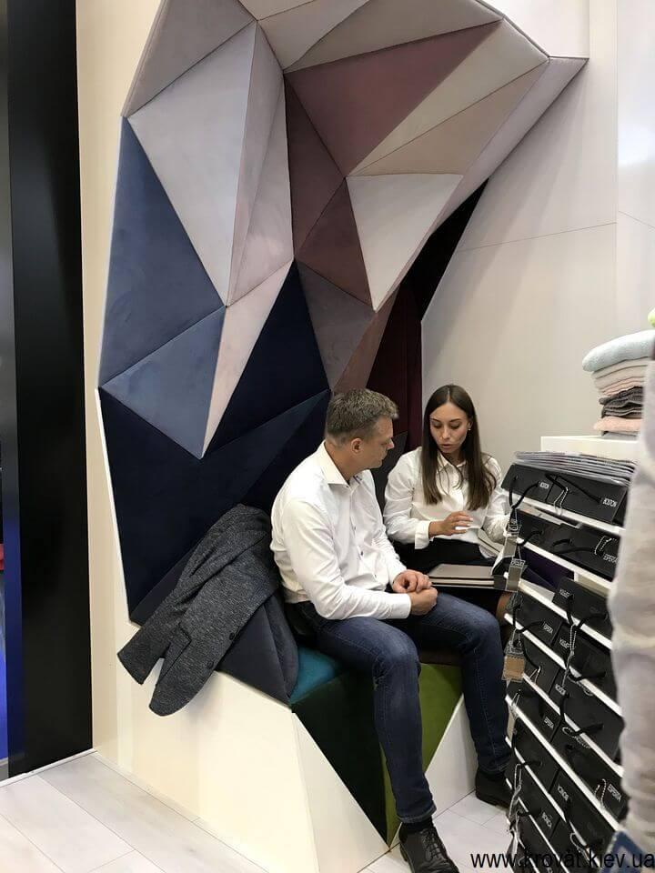 ткани для мебели на выставке мебели в Киеве 2018