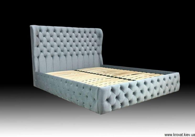 сіре двомісне ліжко на замовлення