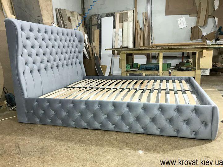 серая двухместная кровать на заказ