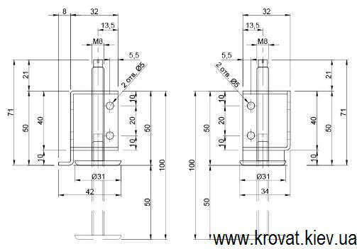 металлические регулируемые ножки на шкаф