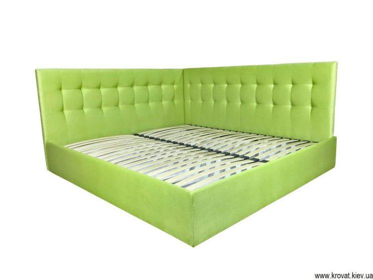 ліжко з м'якою бічною спинкою