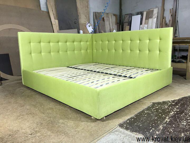 кровать с мягкой боковой спинкой на заказ