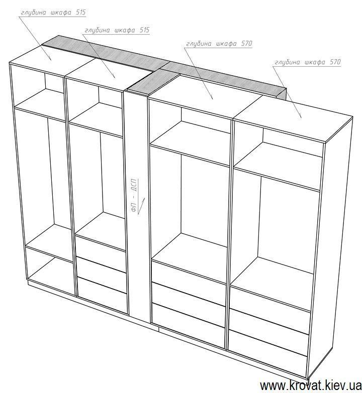 проект вбудованої гардеробної