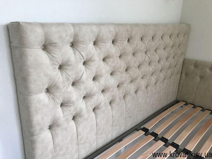 угловая кровать с капитоне на заказ
