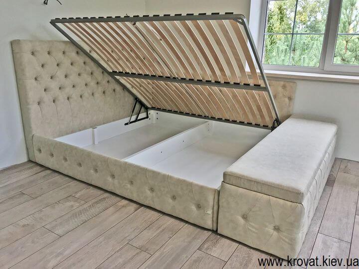 ліжко з боковим підйомним механізмом в спальню на замовлення