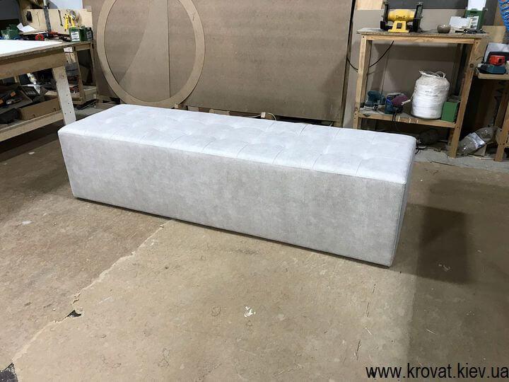 изготовление пуфов к кровати на заказ
