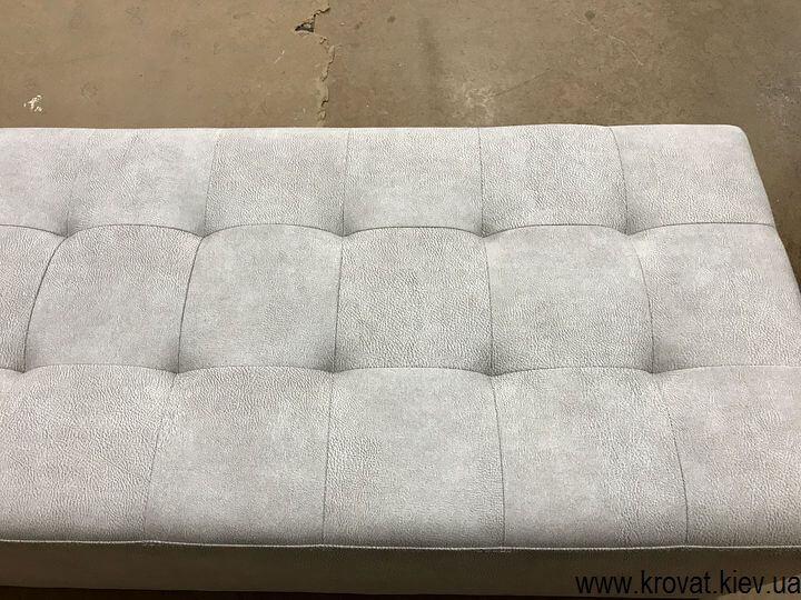 прямоугольный пуф к кровати на заказ