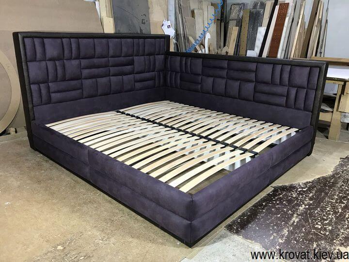 угловая двуспальная кровать 200х220 на заказ