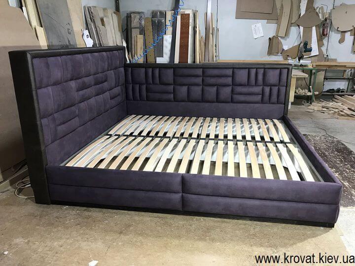 кутове ліжко 200х220 без підйомного механізму на замовлення