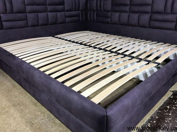 угловая кровать 200х220 в ткани на заказ