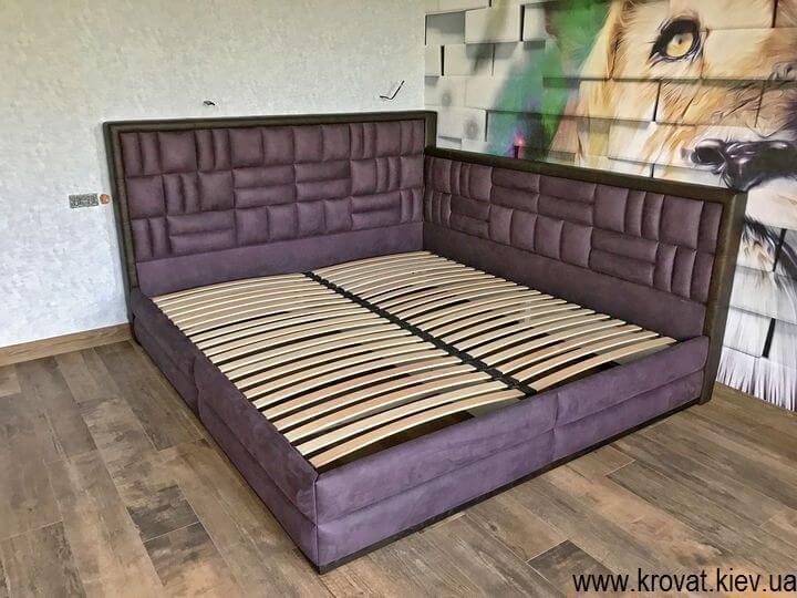 угловая кровать 200х220 в интерьере спальни