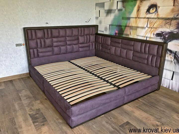кутове ліжко 200х220 в інтер'єрі спальні