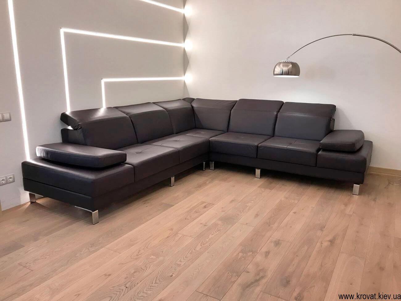 элитный кожаный диван на заказ