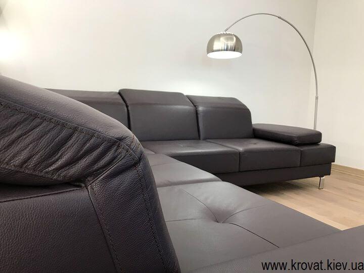 диван на заказ из натуральной кожи