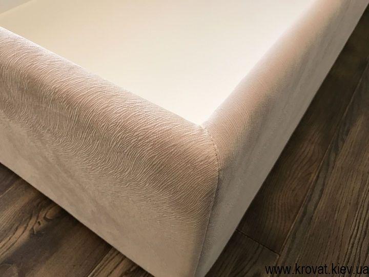 кровать с тканевой обивкой с ящиком на заказ