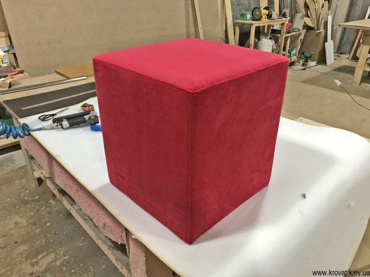 как сделать квадратный пуфик в прихожую своими руками