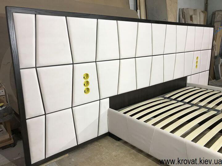 эксклюзивная кровать с большой спинкой на заказ