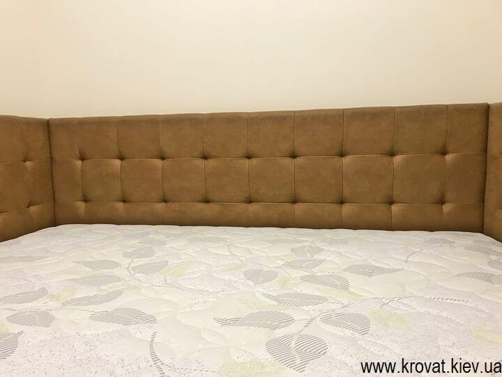двуспальная кровать с тремя спинками для взрослых на заказ