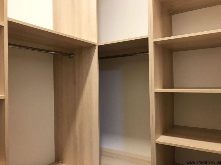 шкафы угловой гардеробной на заказ