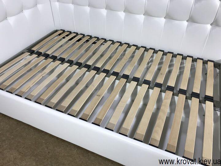 угловая полуторная кровать для подростка на заказ