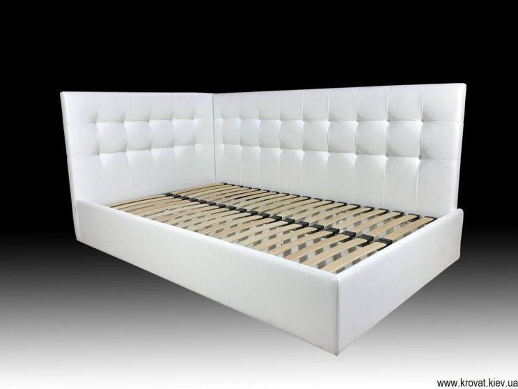 угловая полуторная кровать для подростка мальчика на заказ