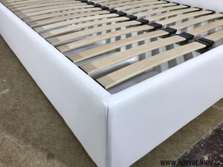 белая кровать для подростка на заказ