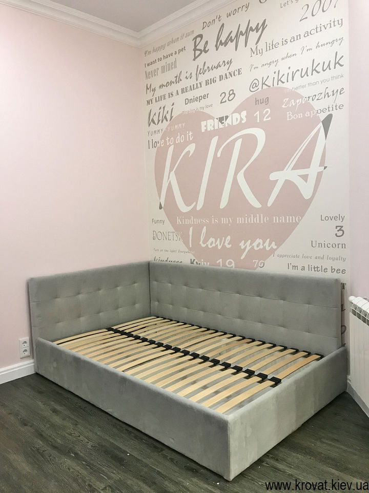 кутове ліжко для дівчинки 10 років на замовлення