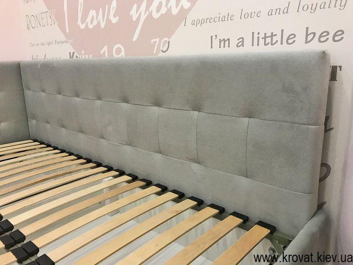 кутове полуторне ліжко для підлітка дівчинки на замовлення