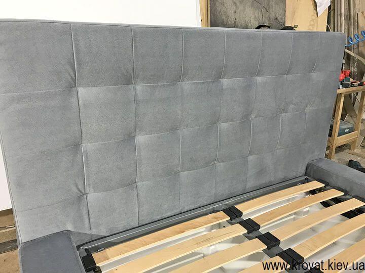 подростковая полуторная кровать 120х190 на заказ с мягкой спинкой