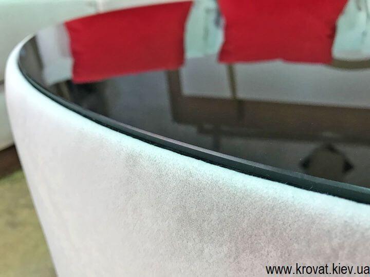 пуф журнальный столик к полукруглому дивану на заказ