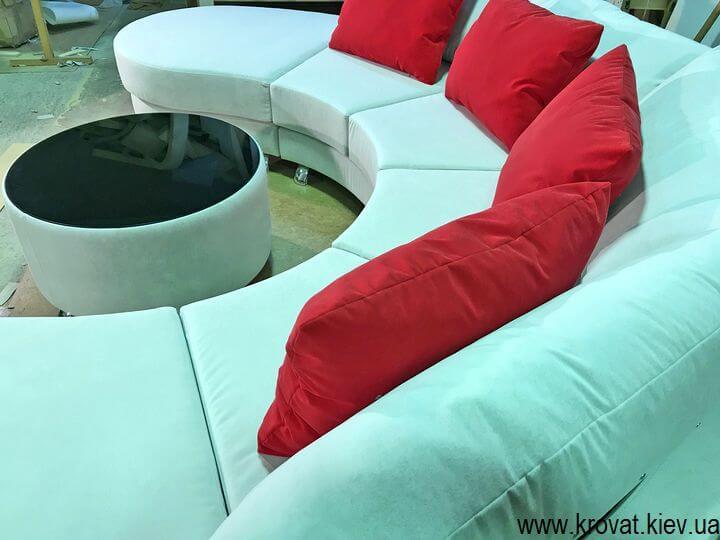 пуф столик круглої форми на замовлення