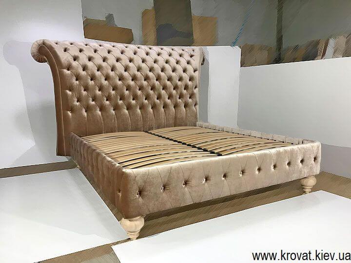 класичне двоспальне ліжко Італія в тканині на замовлення