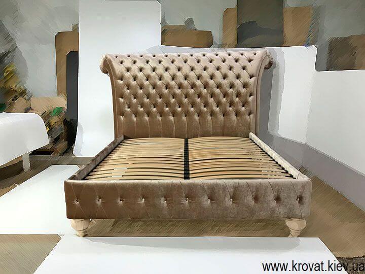 двуспальная кровать Италия с каретной стяжкой на заказ