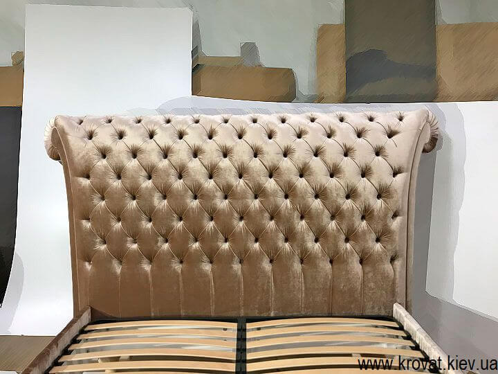 двуспальная кровать Италия с капитоне на заказ